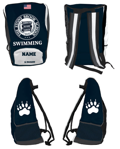 Stony Brook Swimming Sublimated Backpack - 5KounT2018