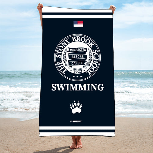 Stony Brook Swimming Sublimated Beach Towel - 5KounT2018