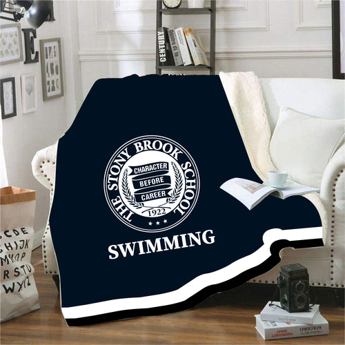 Stony Brook Swimming Sublimated Blanket - 5KounT2018