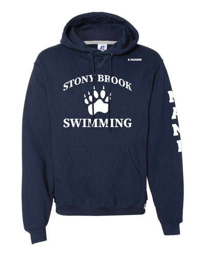Stony Brook Swimming Russell Athletic Cotton Hoodie - Navy - 5KounT2018