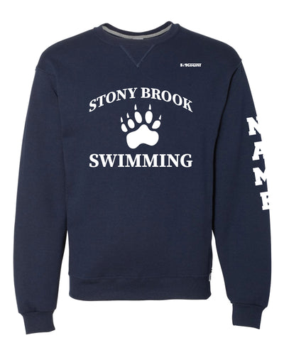 Stony Brook Swimming Russell Athletic Cotton Crewneck Sweatshirt - Navy - 5KounT2018