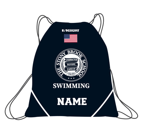 Stony Brook Swimming Sublimated Drawstring Bag - 5KounT2018
