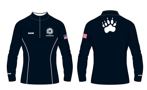 Stony Brook Swimming Sublimated Quarter Zip - 5KounT2018