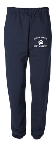 Stony Brook Swimming Cotton Sweatpants - Navy - 5KounT2018