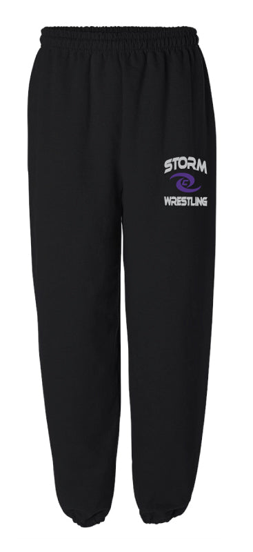 Storm Wrestling Cotton Sweatpants - Black - 5KounT2018