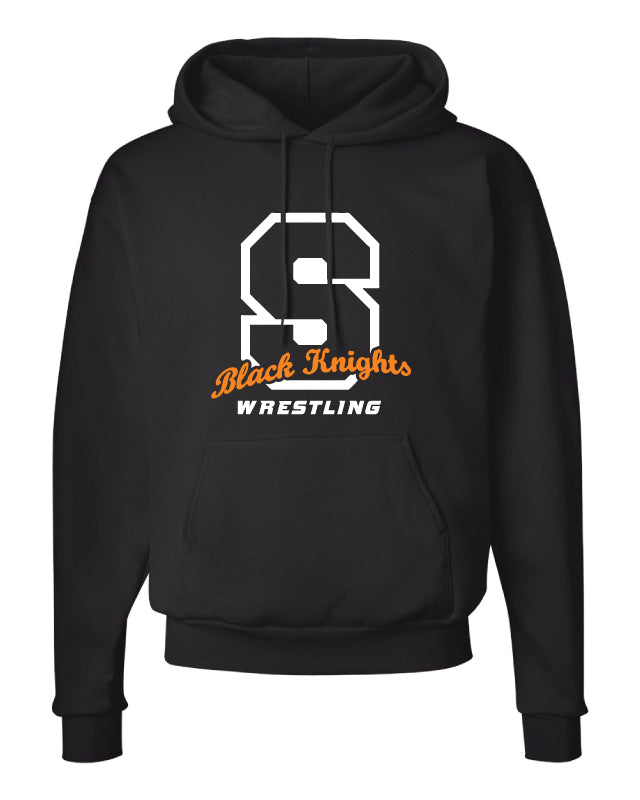 Black Knights Wrestling Cotton Hoodie - Black