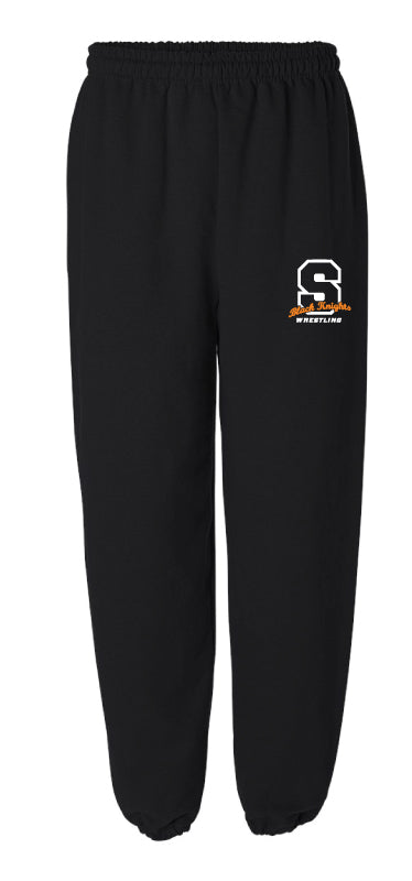 Black Knights Wrestling Cotton Sweatpants - Black / Grey