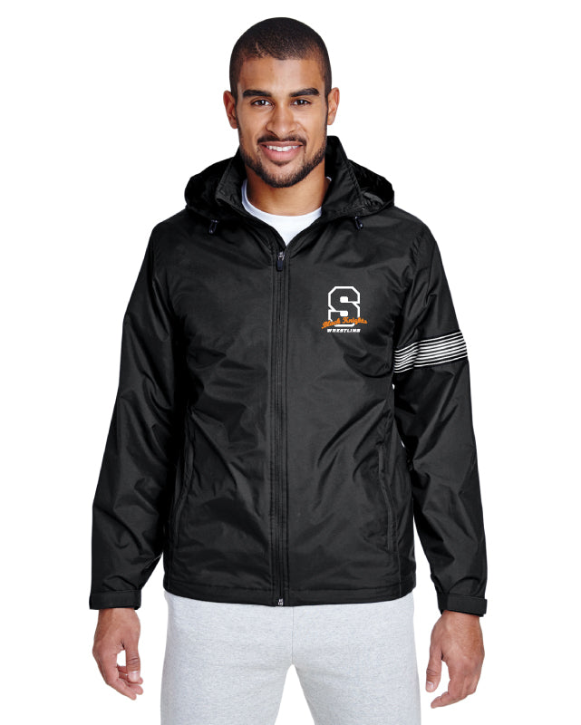 Black Knights Wrestling All Season Hooded Jacket - Black - 5KounT2018