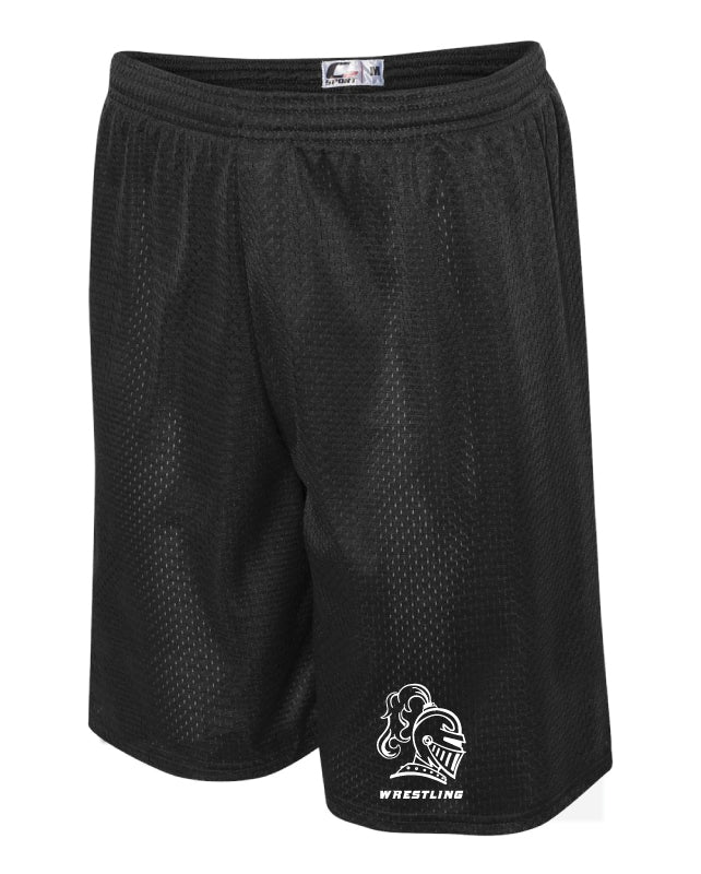 Black Knights Wrestling Tech Shorts - Black - 5KounT