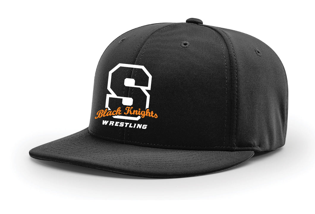 Black Knights Wrestling FlexFit Cap - Black - 5KounT2018