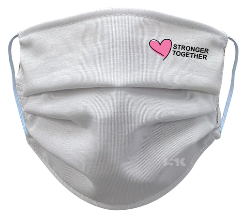 Stronger Together White Reusable Face Mask