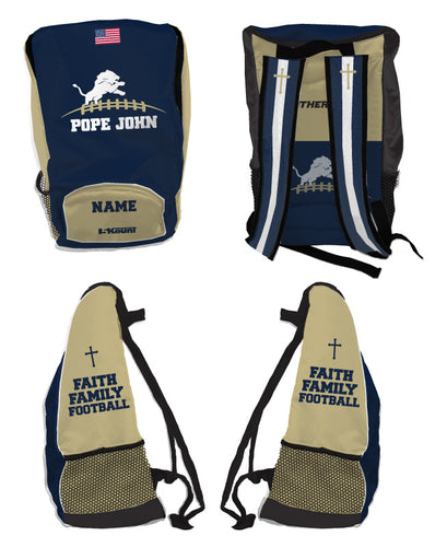Pope John Football Sublimated Backpack