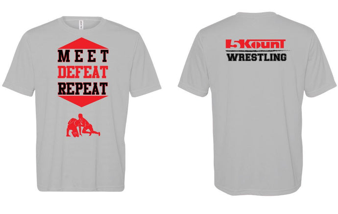 5KounT MEET DEFEAT REPEAT DryFit Tee