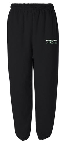 Hopatcong Wrestling Cotton Sweatpants - Black