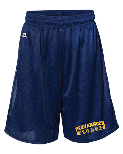 Pequannock Wrestling Russell Athletic  Tech Shorts - Navy - 5KounT2018