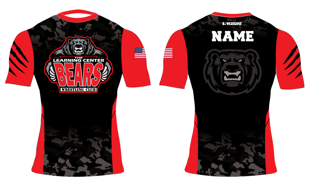 TLC Bears Wrestling Club Sublimated Compression Shirt - 5KounT2018