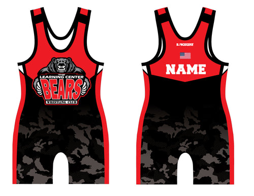 TLC Bears Wrestling Club Sublimated Singlet