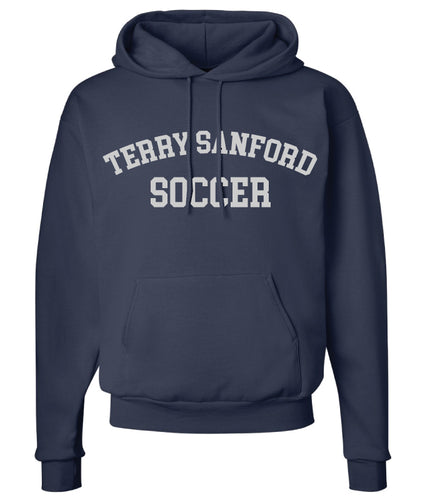 Terry Sanford Cotton Hoodie - Navy - 5KounT