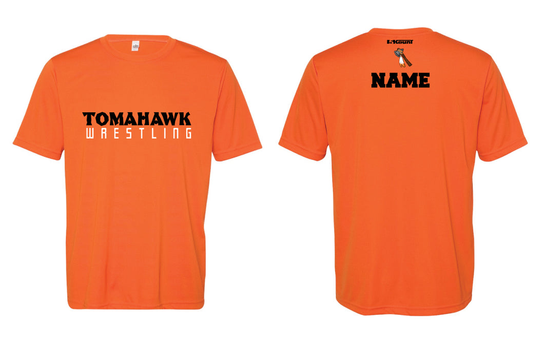 Tomahawk Wrestling DryFit Performance Tee - Orange