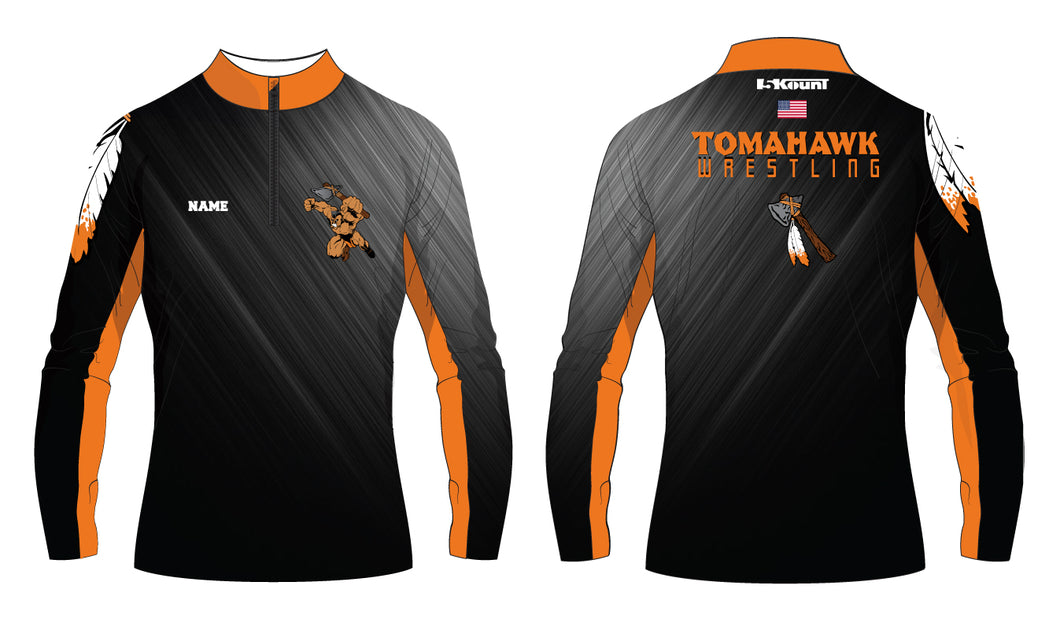 Tomahawk Wrestling Sublimated Quarter Zip - 5KounT2018