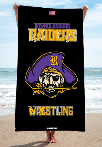 Reynoldsburg Wrestling Sublimated Beach Towel