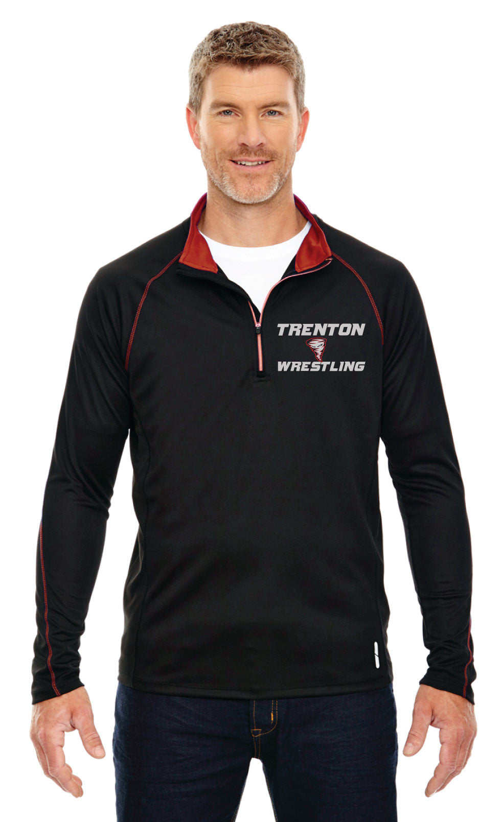 Trenton Wrestling Half-Zip Performance Jacket