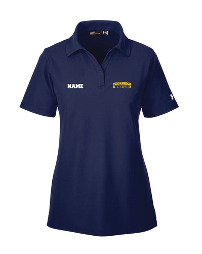 Pequannock Wrestling Under Armour Ladies' Corp Performance Polo - Navy - 5KounT2018