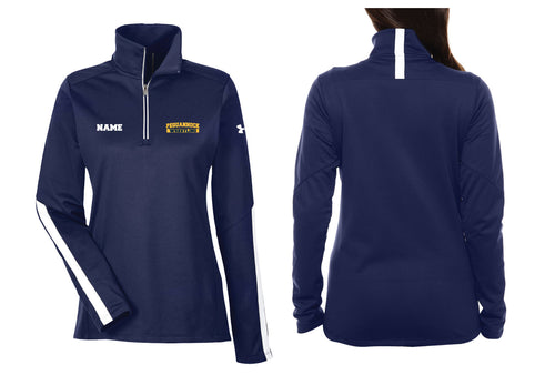 Pequannock Wrestling Buxton Under Armour Ladies' Qualifier 1/4 Zip - Navy - 5KounT2018