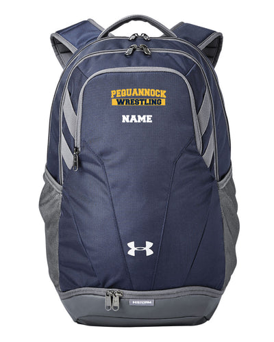 Pequannock Wrestling Under Armour Unisex Backpack - Navy - 5KounT2018