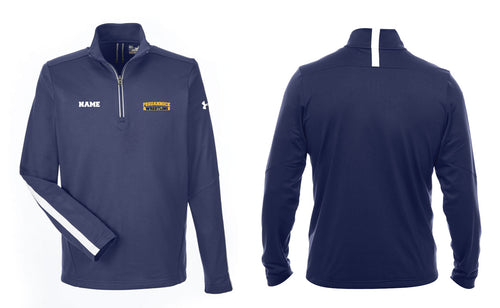 Pequannock Wrestling Under Armour Men's Qualifier 1/4 Zip - Navy - 5KounT2018