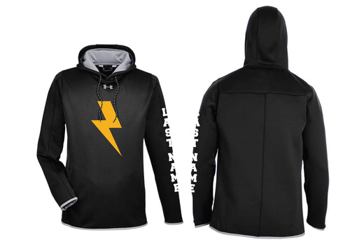 Lightning Lax Under Armour Ladies' Double Threat Armour Fleece® Hoodie - Black - 5KounT2018