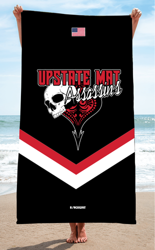 Upstate Mat Assassins Wrestling Sublimated Beach Towel