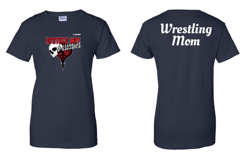 Upstate Mat Assassins Wrestling Mom Cotton Tee - Black