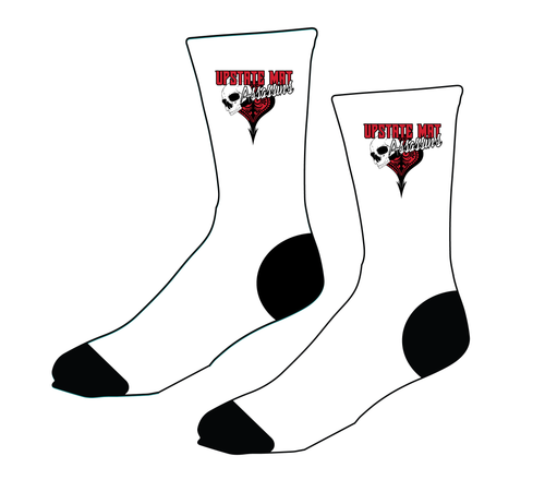 Upstate Mat Assassins Sublimated Socks - White