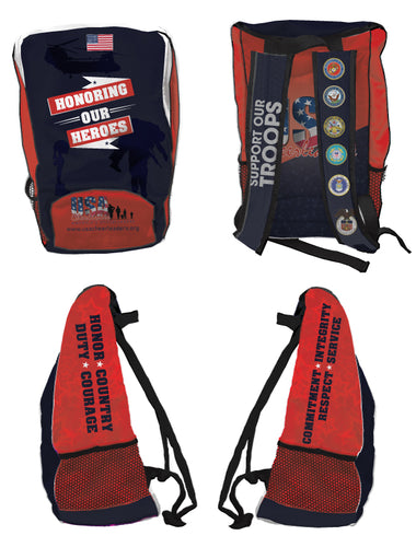 USA Cheerleaders Sublimated Backpack