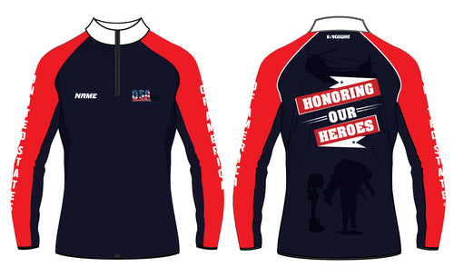 USA Cheerleaders Sublimated Quarter Zip