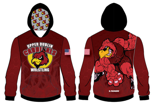 Upper Dublin Wrestling  Sublimated Hoodie - 5KounT2018