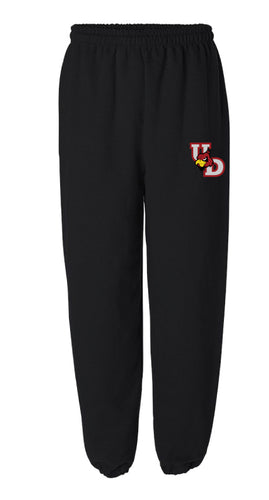Upper Dublin Wrestling  Cotton Sweatpants - Black - 5KounT2018