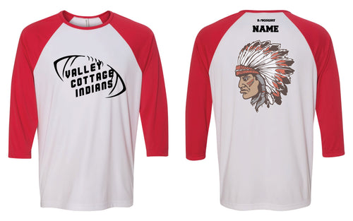 VCI Youth Football Baseball Shirt - Red/White - 5KounT2018