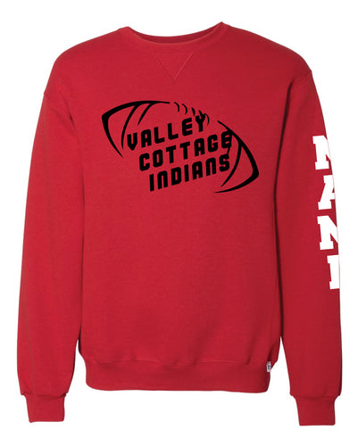 VCI Youth Football Russell Athletic Cotton Crewneck - Red - 5KounT2018