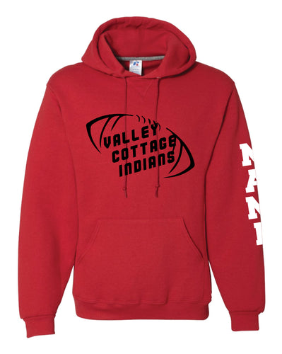 VCI Youth Football Russell Athletic Cotton Hoodie - Red - 5KounT2018