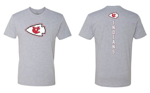 VCI Youth Football Cotton Crew Tee - Heather Grey - 5KounT2018