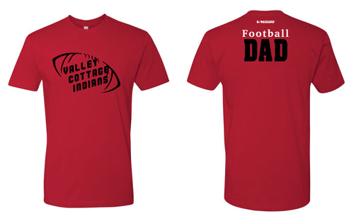 VCI Youth Dad Football Cotton Crew Tee - Red - 5KounT2018