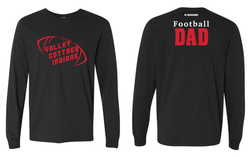 VCI Youth Football Dad Cotton Long Sleeve - Black