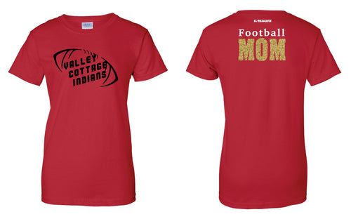 VCI Youth Football Mom Cotton Women's Crew Tee - Red - 5KounT2018