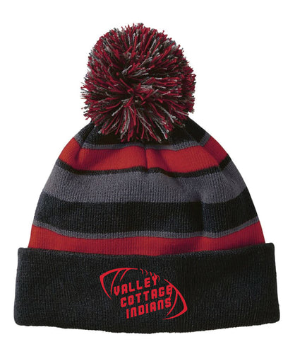 VCI Youth Football Pom Beanie - Black - 5KounT2018