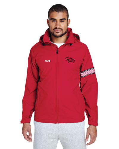 VCI Youth Football All Season Hooded Men's Jacket - Red - 5KounT2018