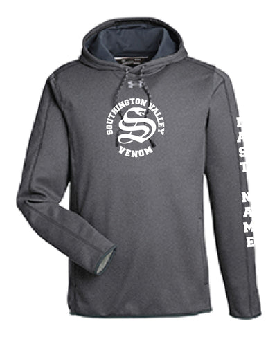 Southington Valley Venom Under Armour Men's Double Threat Armour  Fleece® Hoodie - Graphite/Black - 5KounT2018