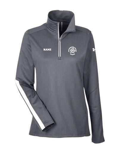 Southington Valley Venom Under Armour Ladies' Qualifier 1/4 Zip - Graphite/Black - 5KounT2018