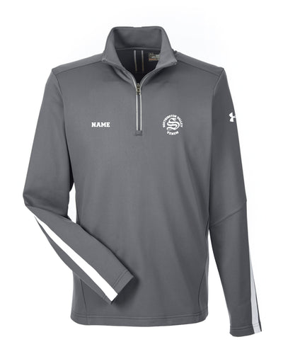 Southington Valley Venom Under Armour Men's Qualifier 1/4 Zip - Graphite/Black - 5KounT2018